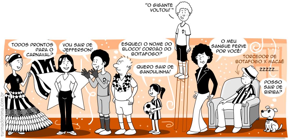 Tirinha 25 Botafogo Carnaval